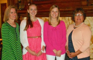 From left to right: Marylou Witherspoon, 2013 winner Becky Lankford, 2014 winner Hannah Wright, Catherine Cervantes